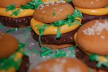 Mini cheeseburger cookies recipe joanne fluke